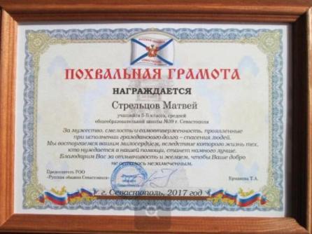Бабушка могла погибнуть, но её увидел севастопольский школьник Матвей Стрельцов и не прошёл мимо