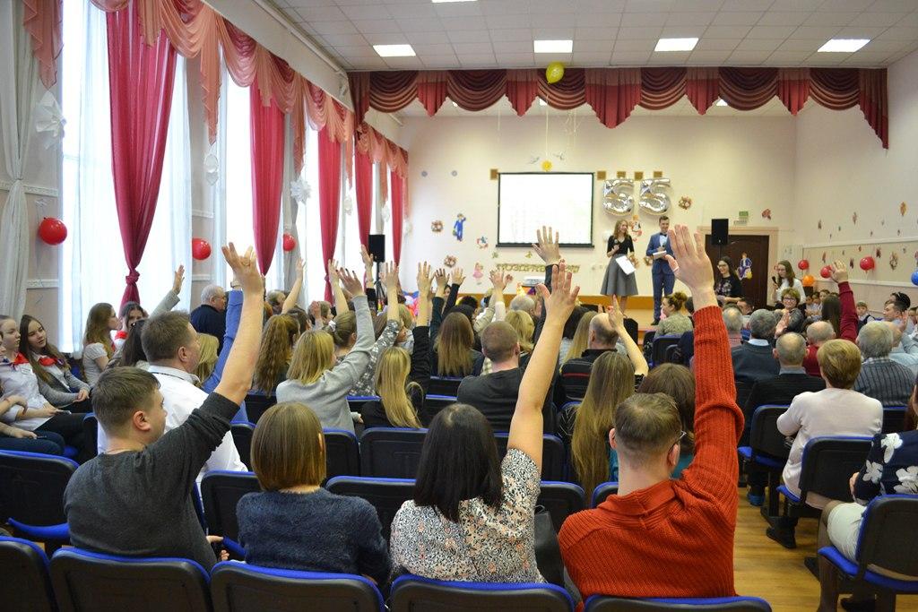 Отчет о прошедшем «Торжественном вечере, посвященном 55-летию нашего школьного отделения» (до 31.10.2014 — средняя школа №516 г.Москвы)